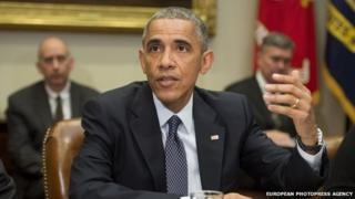 US President Barack Obama appeared in Washington DC, on 18 November 2014