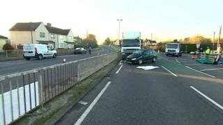 Scene of the crash in Chipping Sodbury