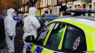 Forensic officers in St Ann's Road Southend