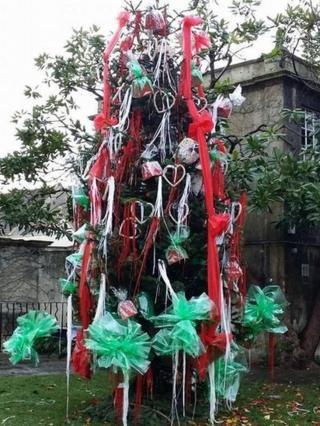 Bradford-on-Avon's Christmas tree