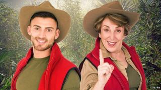 Jake Quickenden and Edwina Currie