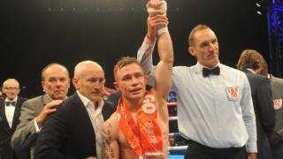 Carl Frampton became the IBF super-bantamweight world champion after beating Kiko Martinez in Belfast in September