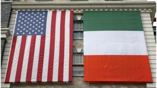 Irish and US flag