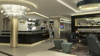 CGI of Mercure hotel