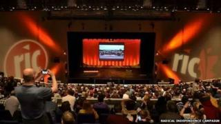 The one-day conference is taking place at the Clyde Auditorium in Glasgow