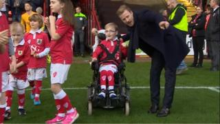 Oskar Pycroft, leading out Bristol City on 22nd Nov 2014