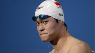 Chinese swimmer Sun Yang competes in Barcelona in 2013