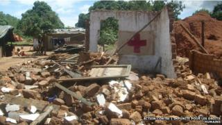 A demolished medical centre in Democratic Republic of Congo (2009)