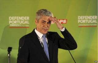 Jose Socrates at election event in 2011