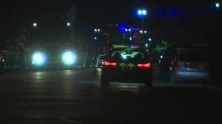 Emergency vehicles at the scene