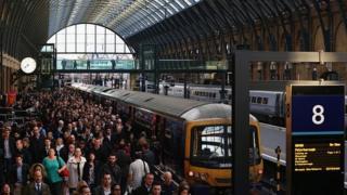 Passengers disembark at Kings Cross Station, November 2014