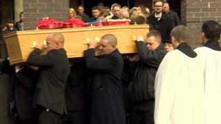 Funeral of Simon Hillier
