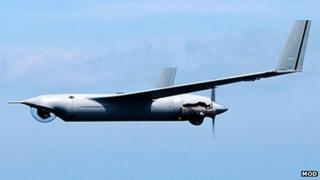 The ScanEagle unmanned aircraft