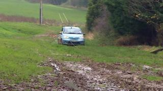 Car stuck in xxx field