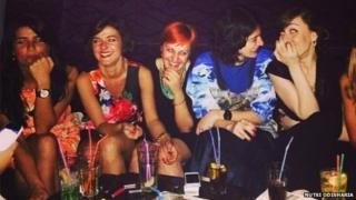 women having fun