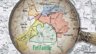 Map of Fief Fauville