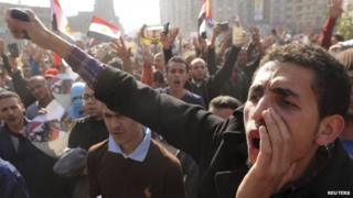 Islamists protest in the Egyptian capital Cairo