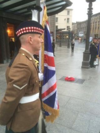 Plaque commemorating McCrae's Battalion unveiled