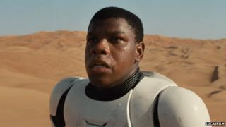 John Boyega in the Star Wars trailer