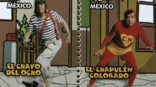Mexican stamps from 2006 showing two of Gomez Bolanos's popular characters
