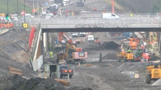 Building work at the A465