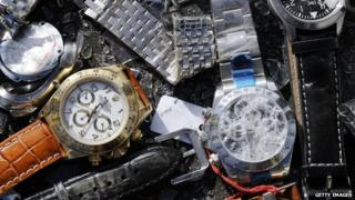 Counterfeit watches