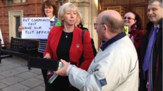 A petition being handed into the House of Keys in the Isle of Man