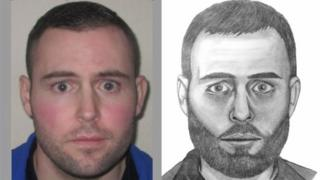 Photo and artists impression of Johnathan Kelly