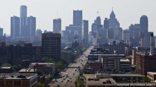 Detroit, Michigan, seen on 19 July 2013