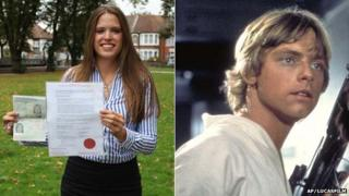 Laura Matthews and Luke Skywalker