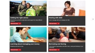 Financial Health Service portal