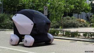 Milton Keynes self-drive cars