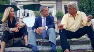 Nigel Farage, Steph and Dom Parker