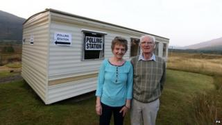 Caravan polling place at Coulags