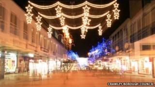 Crawley Christmas lights