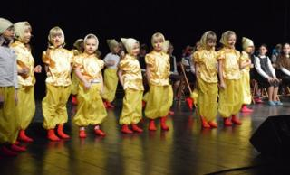 Children performing at the festival