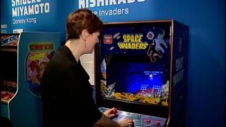 pauline and space invaders