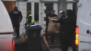 Police at the house