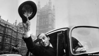 Jeremy Thorpe outside the House of Commons in 1967 after his election as Liberal leader