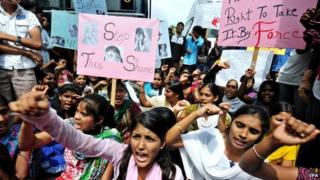 Reports say there is widespread anger in India over attacks on women in Indian towns and cities