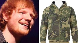 Ed Sheeran with hoodie