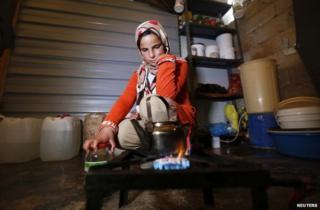 A Syrian refugee girl at a camp in Mafraq, Jordan, 7 December