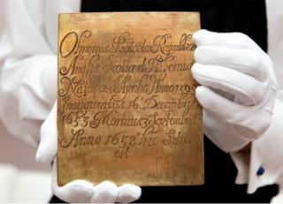 Coffin plate from Oliver Cromwell's coffin