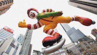 Ronald McDonald in Macy's parade