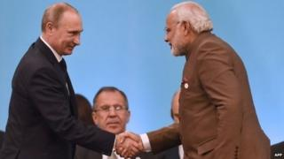 File photo of Putin and Modi
