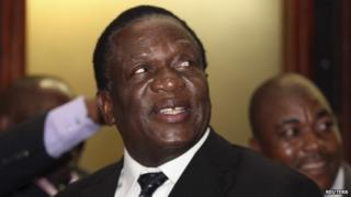 Emmerson Mnangagwa in Harare, Zimbabwe (10 December 2014)