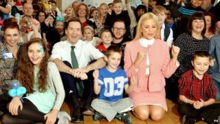 George Osborne and Pixie Lott at the 11 Downing Street Christmas Party