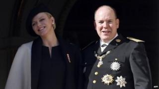 Prince Albert and Princess Charlene, pictured in November