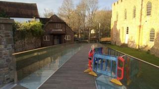 Glass bridge in Taunton