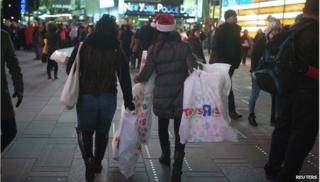 Toys R Us shopping bags in times square